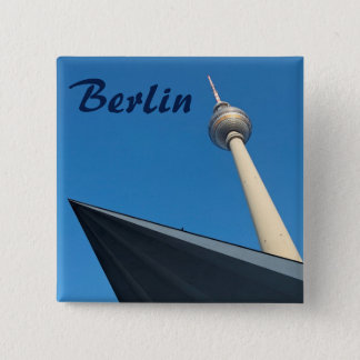 Berlin Fernsehturm 15 Cm Square Badge