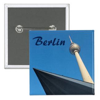 Berlin Fernsehturm 15 Cm Square Badge