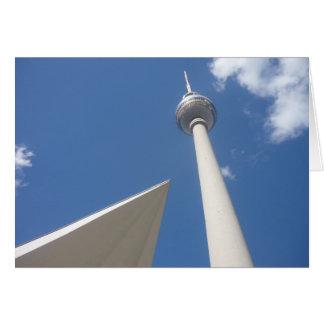 berlin fernsehturm angle greeting card