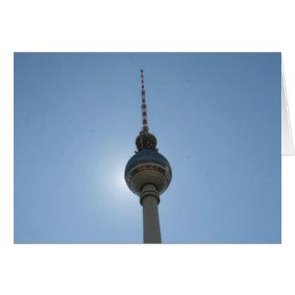 berlin fernsehturm greeting card