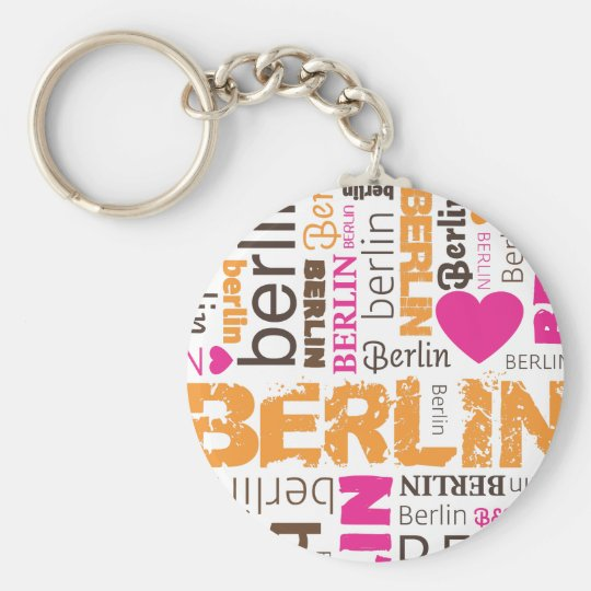 Berlin german typography key chain