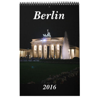 berlin germany 2016 wall calendar