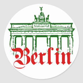 Berlin Germany Classic Round Sticker