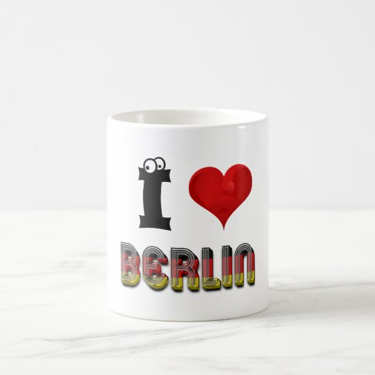 Berlin Germany Heart German Flag Typography Coffee Mug