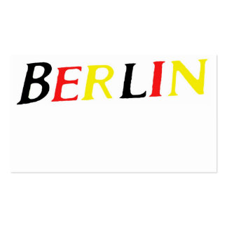 Berlin, Germany in Colours of Flag Pack Of Standard Business Cards