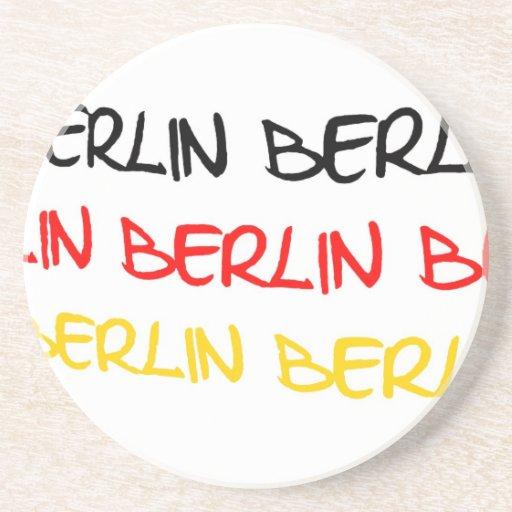 Berlin, Germany Logo Souvenir Beverage Coaster