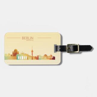 Berlin,Germany Luggage Tag w/ leather strap