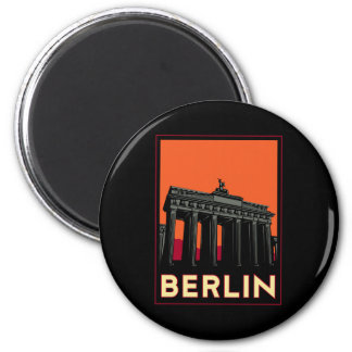 berlin germany oktoberfest art deco retro travel 6 cm round magnet