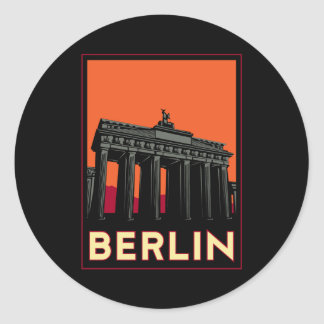 berlin germany oktoberfest art deco retro travel classic round sticker