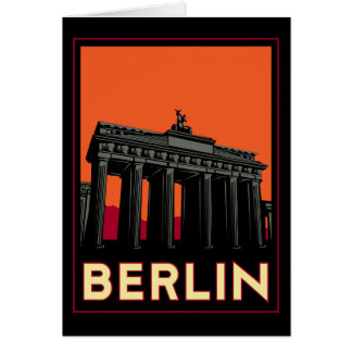 berlin germany oktoberfest art deco retro travel greeting card