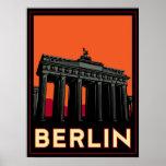 berlin germany oktoberfest art deco retro travel poster