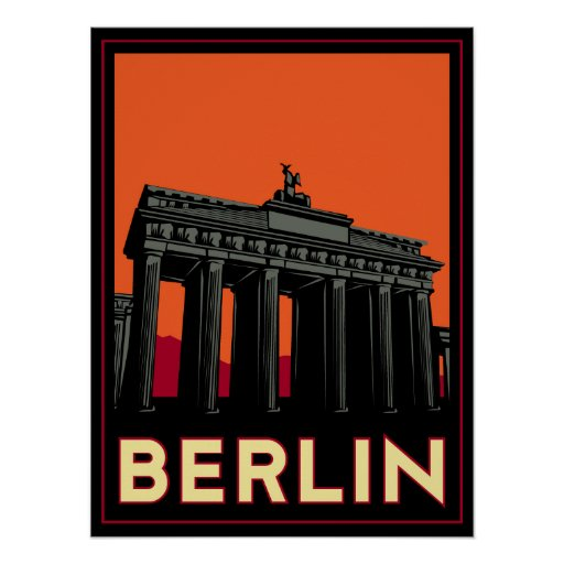 berlin germany oktoberfest art deco retro travel poster zazzle. Black Bedroom Furniture Sets. Home Design Ideas