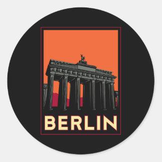 berlin germany oktoberfest art deco retro travel round sticker