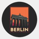 berlin germany oktoberfest art deco retro travel sticker
