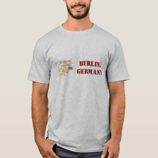 Berlin, Germany shirt with retro map.