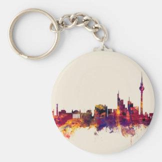 Berlin Germany Skyline Basic Round Button Key Ring