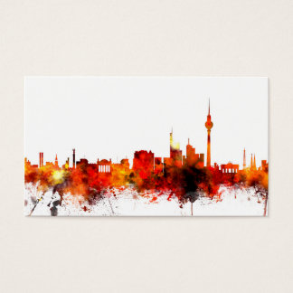 Berlin Germany Skyline Business Card