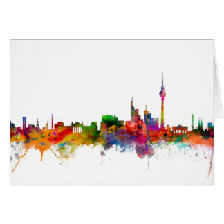 Berlin Germany Skyline Card