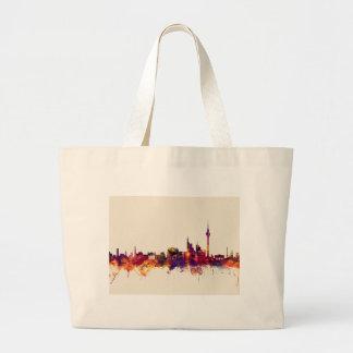 Berlin Germany Skyline Large Tote Bag