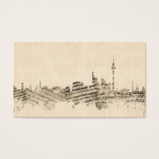 Berlin Germany Skyline Sheet Music Cityscape Business Card