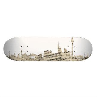 Berlin Germany Skyline Sheet Music Cityscape Skateboards