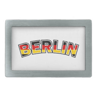 Berlin, Germany, text with Germany flag colors Belt Buckle