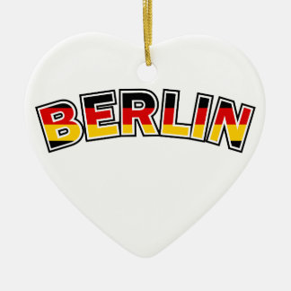 Berlin, Germany, text with Germany flag colors Christmas Ornament