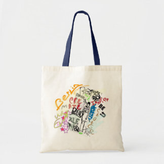 Berlin Graffiti Girl Tote Bag