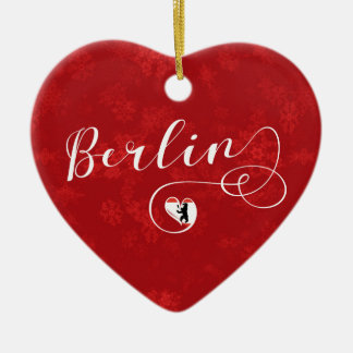 Berlin Heart, Christmas Tree Ornament, Germany Christmas Ornament