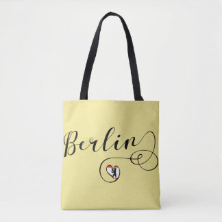 Berlin Heart Grocery Bag, Germany Tote Bag