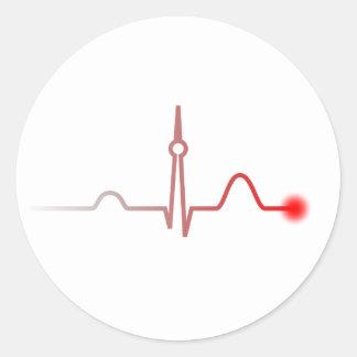 Berlin Heartbeat Round Stickers
