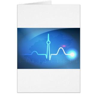 Berlin Heartbeat v2 Greeting Card