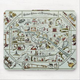 Berlin living and amusement plan mouse mat