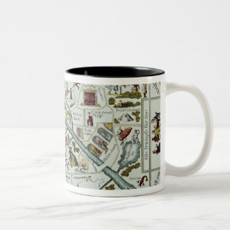 Berlin living and amusement plan Two-Tone coffee mug