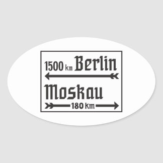 Berlin-Moscow, II World War, Russia Oval Sticker