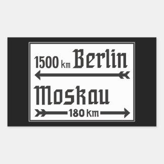 Berlin-Moscow, II World War, Russia Rectangular Sticker