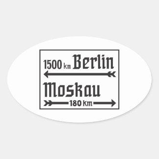 Berlin-Moscow, II World War, Russia Oval Sticker