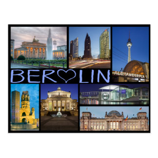 Berlin multi image postcard