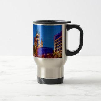 Berlin nightlife - Kaiser Wilhelm Memorial Church Stainless Steel Travel Mug