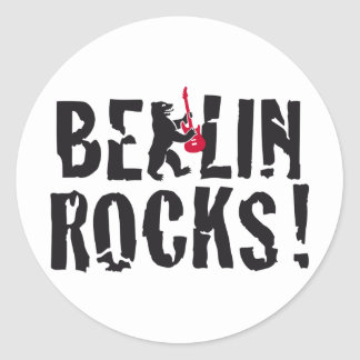 Berlin of skirt classic round sticker
