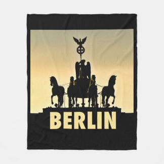 BERLIN Quadriga 002.1 Brandenburg Gate Fleece Blanket