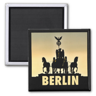 BERLIN Quadriga 002.1 Brandenburg Gate Square Magnet