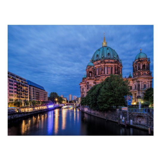 Berlin, River Spree and Cathedral Postcard
