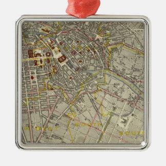 Berlin Silver-Colored Square Decoration