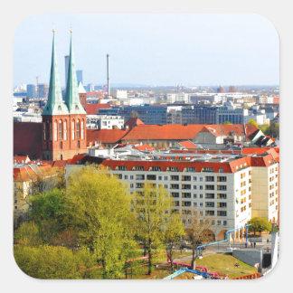 Berlin skyline (Germany) Square Sticker
