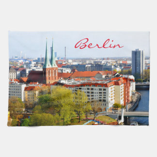 Berlin skyline (Germany) Tea Towel