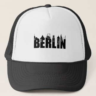 Berlin Skyline Skyscrapers City Trucker Hat