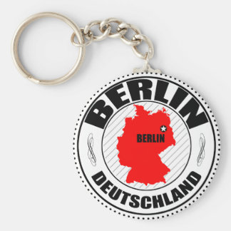 Berlin Stamp A002 Basic Round Button Key Ring