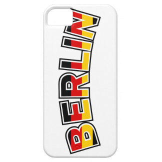Berlin, text with Germany flag colors iPhone 5 Cover