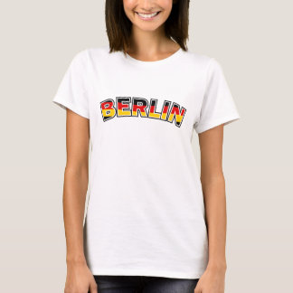 Berlin, text with Germany flag colors T-Shirt
